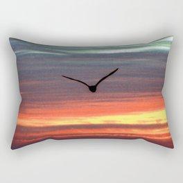 Black Gull by nite Rectangular Pillow