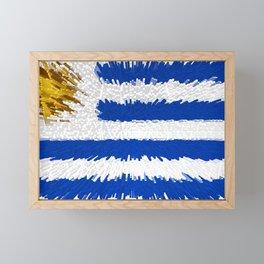 Extruded flag of Uruguay Framed Mini Art Print