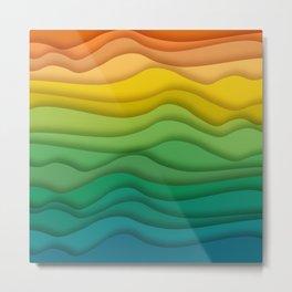 Waves texture Metal Print