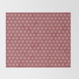 Japanese Yukata Jinbei Asanoha shinshu Throw Blanket