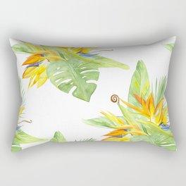 watercolor seamless pattern bird of paradise Rectangular Pillow