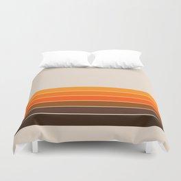 Golden Spring Stripes Duvet Cover