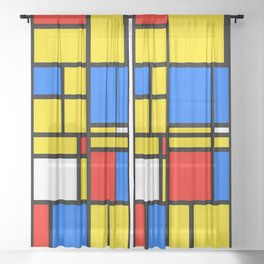 Mondrian Style Sheer Curtain