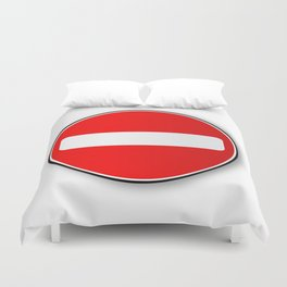 No Traffic Entry Duvet Cover