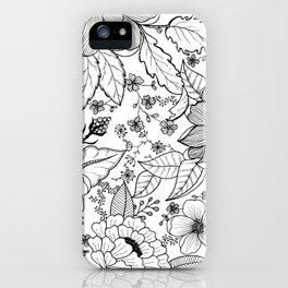 Black + White iPhone Case