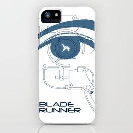 BLADE RUNNER (White - Voight Kampf Test Version) iPhone Case