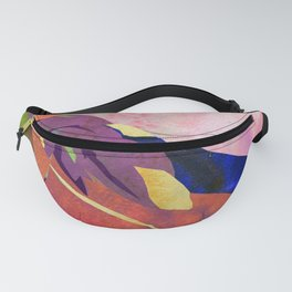 Peach Canna Lily Abstract Watercolor - Floral Art Print Fanny Pack