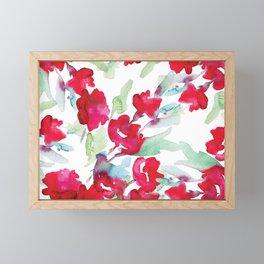 Floral Watercolor Pattern designed by #Mahsawatercolor Framed Mini Art Print