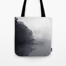 Foggy and Chilly morning at Alum Creek Tote Bag