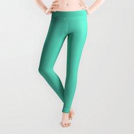Tiffany Aqua Blue Solid Color Leggings