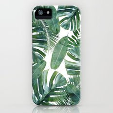 MONSTERA PATTERN Slim Case iPhone SE