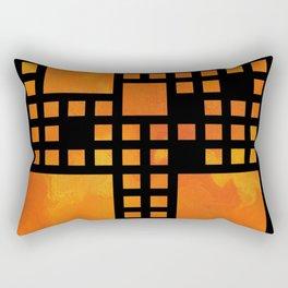 Visopolis V1 - orange flames Rectangular Pillow