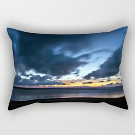 Nocturnal Cloud Spectacle on Danish Sky Rectangular Pillow