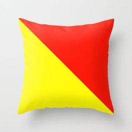 Semaphore O Throw Pillow