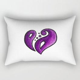 Strength / قوة (purple) Rectangular Pillow
