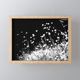Flying Flowers Framed Mini Art Print