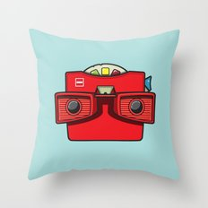 #42 Viewmaster Throw Pillow