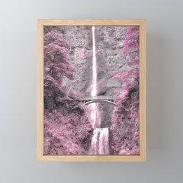 PRETTY IN PINK - MULTNOMAH FALLS Framed Mini Art Print