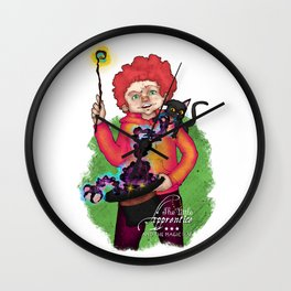 The Little Apprentice and the Magic Hat Wall Clock