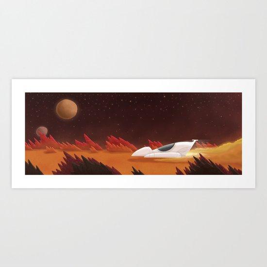 Mars, Off Road Art Print