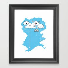 Young Clouds fooling around Framed Art Print