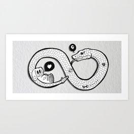 Yummy Bunny Art Print