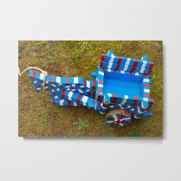 Miniature ox-cart Metal Print