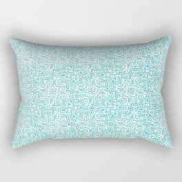 Waves / ocean blue / seamless repeating pattern Rectangular Pillow