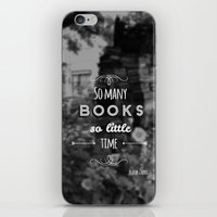 zappa iPhone & iPod Skins featuring So many books, so little time by Jane Mathieu