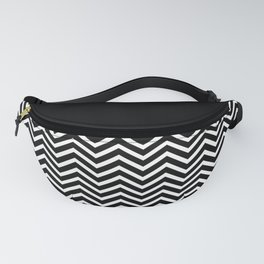Black Solid and Chevron Fanny Pack