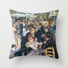 Dance at Le Moulin de la Galette by Renoir Throw Pillow
