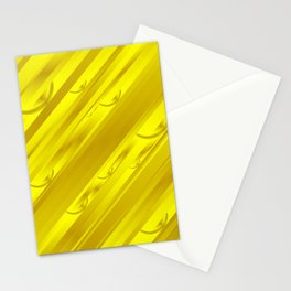 yellow abstract pattern in metal Stationery Cards