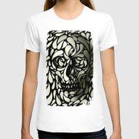 purple T-shirts featuring Skull by Ali GULEC