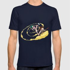 A ride with Son Goku Navy Mens Fitted Tee SMALL