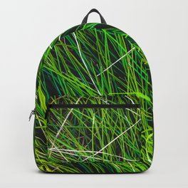 closeup green grass field texture abstract background Backpack