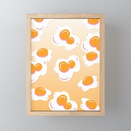 eggs, sunny-side up Framed Mini Art Print