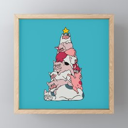 Christmas Tree French Bulldog Framed Mini Art Print