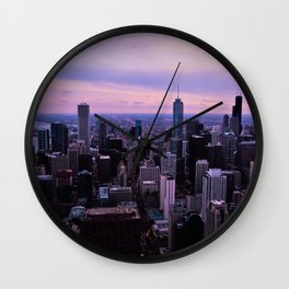 Chicago Sunsets Wall Clock