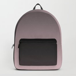 Black, pink - gray Ombre. Backpack