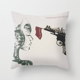 forest girl and gung Throw Pillow