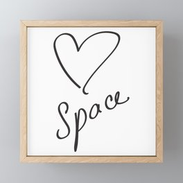 Heartspace - A Higher Frequency Love in 5D Framed Mini Art Print