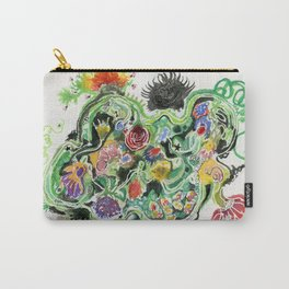 Crowded Floral Carry-All Pouch