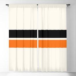 2 Stripes Black Orange Blackout Curtain