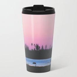Pink skies over the lake Travel Mug
