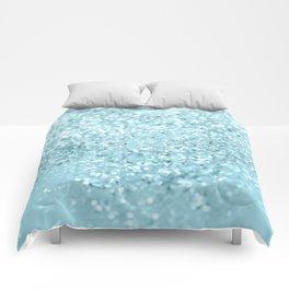 Pastel Blue Glitter Dream #1 #shiny #decor #art #society6 Comforters