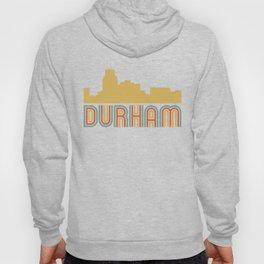 Vintage Style Durham North Carolina Skyline Hoody