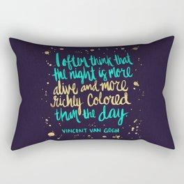 Night Owl on Navy Rectangular Pillow