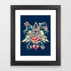 BOWSER NEVER LOVED ME (3-color) Framed Art Print