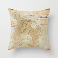 Map of Neverland Throw Pillow