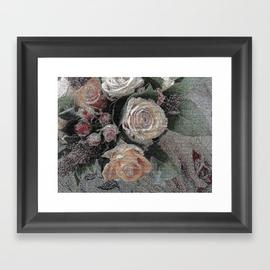First Frost- Frozen Flowers  Framed Art Print